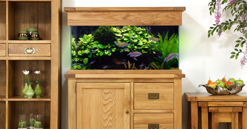 AQ110D 110cm Doors and Drawers Aquarium Room Setting