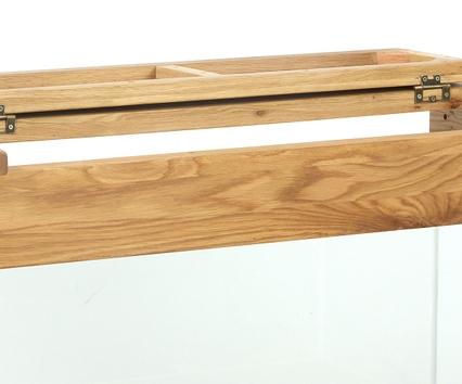 AQ110D 110cm Doors and Drawers Hood Flap Open