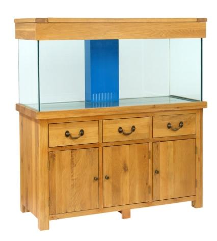 AQ150PS Plank Oak Systemised Aquarium