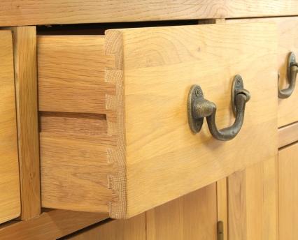 AQ150PS Plank Oak Systemised Aquarium Open Drawer Close Up